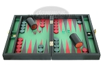 picture of Zaza & Sacci Leather/Microfiber Backgammon Set - Model ZS-305 - Small - Black (4 of 12)