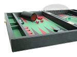 picture of Zaza & Sacci Leather/Microfiber Backgammon Set - Model ZS-305 - Small - Black (5 of 12)