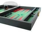 picture of Zaza & Sacci Leather/Microfiber Backgammon Set - Model ZS-305 - Small - Black (6 of 12)