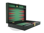 picture of Zaza & Sacci Leather/Microfiber Backgammon Set - Model ZS-305 - Small - Black (8 of 12)