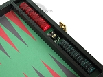 picture of Zaza & Sacci Leather/Microfiber Backgammon Set - Model ZS-305 - Small - Black (9 of 12)