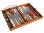 picture of Zaza & Sacci Leather/Microfiber Backgammon Set - Model ZS-305 - Small - Brown (2 of 11)