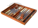 picture of Zaza & Sacci Leather/Microfiber Backgammon Set - Model ZS-305 - Small - Brown (3 of 11)