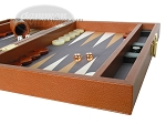 picture of Zaza & Sacci Leather/Microfiber Backgammon Set - Model ZS-305 - Small - Brown (6 of 11)
