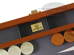 picture of Zaza & Sacci® Leather/Microfiber Backgammon Set - Model ZS-305 - Small - Brown (7 of 11)