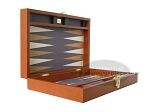 picture of Zaza & Sacci Leather/Microfiber Backgammon Set - Model ZS-305 - Small - Brown (8 of 11)