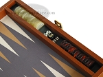 picture of Zaza & Sacci Leather/Microfiber Backgammon Set - Model ZS-305 - Small - Brown (9 of 11)