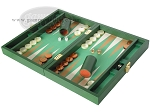 picture of Zaza & Sacci Leather/Microfiber Backgammon Set - Model ZS-305 - Small - Green (3 of 12)