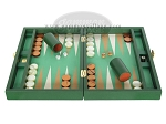 picture of Zaza & Sacci Leather/Microfiber Backgammon Set - Model ZS-305 - Small - Green (4 of 12)