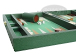 picture of Zaza & Sacci Leather/Microfiber Backgammon Set - Model ZS-305 - Small - Green (5 of 12)