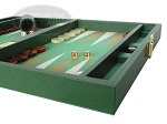 picture of Zaza & Sacci Leather/Microfiber Backgammon Set - Model ZS-305 - Small - Green (6 of 12)