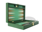 picture of Zaza & Sacci Leather/Microfiber Backgammon Set - Model ZS-305 - Small - Green (8 of 12)