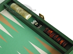 picture of Zaza & Sacci Leather/Microfiber Backgammon Set - Model ZS-305 - Small - Green (9 of 12)