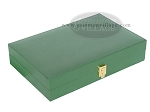 picture of Zaza & Sacci® Leather/Microfiber Backgammon Set - Model ZS-305 - Small - Green (11 of 12)