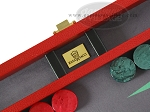 picture of Zaza & Sacci Leather/Microfiber Backgammon Set - Model ZS-305 - Small - Red (7 of 12)