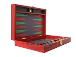 picture of Zaza & Sacci® Leather/Microfiber Backgammon Set - Model ZS-305 - Small - Red (8 of 12)