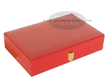 picture of Zaza & Sacci® Leather/Microfiber Backgammon Set - Model ZS-305 - Small - Red (11 of 12)