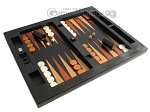 picture of Zaza & Sacci® Leather Table Top Backgammon Set - Black Lizard (2 of 12)