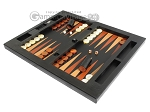 picture of Zaza & Sacci® Leather Table Top Backgammon Set - Black Lizard (3 of 12)