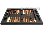 picture of Zaza & Sacci Leather Table Top Backgammon Set - Black Lizard (4 of 12)