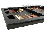 picture of Zaza & Sacci Leather Table Top Backgammon Set - Black Lizard (5 of 12)