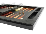 picture of Zaza & Sacci® Leather Table Top Backgammon Set - Black Lizard (6 of 12)