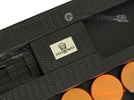 picture of Zaza & Sacci® Leather Table Top Backgammon Set - Black Lizard (7 of 12)