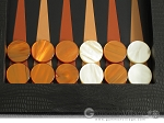 picture of Zaza & Sacci® Leather Table Top Backgammon Set - Black Lizard (8 of 12)