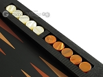 picture of Zaza & Sacci® Leather Table Top Backgammon Set - Black Lizard (9 of 12)