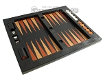 picture of Zaza & Sacci® Leather Table Top Backgammon Set - Black Lizard (12 of 12)
