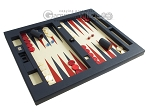 picture of Zaza & Sacci Leather Table Top Backgammon Set - Blue (2 of 12)