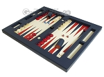 picture of Zaza & Sacci Leather Table Top Backgammon Set - Blue (3 of 12)
