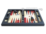 picture of Zaza & Sacci Leather Table Top Backgammon Set - Blue (4 of 12)