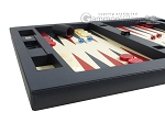 picture of Zaza & Sacci Leather Table Top Backgammon Set - Blue (5 of 12)