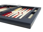 picture of Zaza & Sacci Leather Table Top Backgammon Set - Blue (6 of 12)