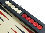 picture of Zaza & Sacci Leather Table Top Backgammon Set - Blue (9 of 12)