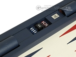 picture of Zaza & Sacci Leather Table Top Backgammon Set - Blue (10 of 12)