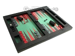 picture of Zaza & Sacci® Leather/Microfiber Table Top Backgammon Set - Black (2 of 12)