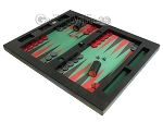 Zaza & Sacci® Leather/Microfiber Table Top Backgammon Set - Black