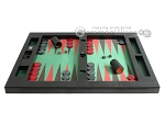 picture of Zaza & Sacci Leather/Microfiber Table Top Backgammon Set - Black (4 of 12)