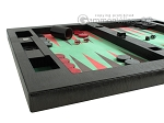 picture of Zaza & Sacci Leather/Microfiber Table Top Backgammon Set - Black (5 of 12)
