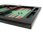 picture of Zaza & Sacci® Leather/Microfiber Table Top Backgammon Set - Black (6 of 12)