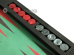 picture of Zaza & Sacci Leather/Microfiber Table Top Backgammon Set - Black (9 of 12)