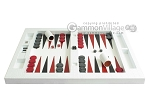 picture of Zaza & Sacci® Leather Table Top Backgammon Set - White Croco (4 of 12)