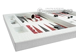 picture of Zaza & Sacci® Leather Table Top Backgammon Set - White Croco (5 of 12)