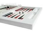 picture of Zaza & Sacci Leather Table Top Backgammon Set - White Croco (6 of 12)