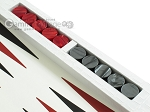 picture of Zaza & Sacci Leather Table Top Backgammon Set - White Croco (9 of 12)