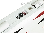 picture of Zaza & Sacci® Leather Table Top Backgammon Set - White Croco (10 of 12)