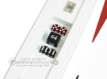 picture of Zaza & Sacci Leather Table Top Backgammon Set - White Croco (11 of 12)