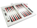 picture of Zaza & Sacci® Leather Table Top Backgammon Set - White Croco (12 of 12)